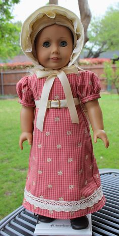 """18"""" Doll Clothes Regency Style Gown for Spring/ Summer Fits American Girl Caroline"""