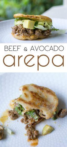 Beef and Avocado Arepa