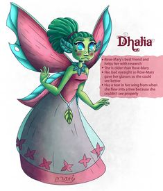 Dhalia, my second character for the  #MidsummerMagicMonth challenge and Rose-Mary's fairy friend.  #MidsummerMagicMonth2020  #character_design #magic #pink #childrenstorybook #digitalpainting #digitalart #clipstudiopaint #illustration #childillustration #character #charactersheet #fairydesign #fairy #pinkdress #greenfairy #charactersketch #clipstudiopaint #digital Character Sheet, Character Design, Kids Story Books, Digital Illustration, Digital Art, Challenge, Fairy, Magic, Illustrations