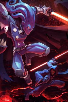 Glyph and Darth Maul Crossover Commission by *frogbillgo