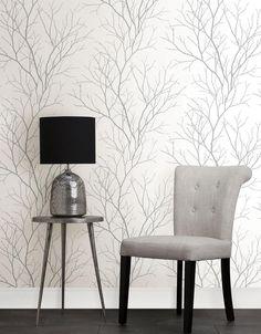 Zola Grey Tree Branch 2773 455922 Brewster Wallpaper   Wallpaper Warehouse