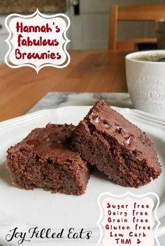 Hannah's Fabulous Brownies - Low Carb, Sugar Free, Gluten Free, Dairy Free, THM S via @joyfilledeats