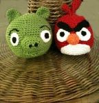 Free angry birds crochet pattern! These are the cutest things ever!