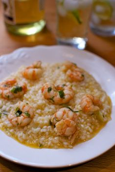 Prawn Risotto, Italian recipe with Thermomix «Thermomix in the world Kitchen Dishes, Rice Dishes, Kitchen Recipes, Cooking Recipes, Healthy Recipes, Seafood Dishes, Seafood Recipes, World Recipes, International Recipes