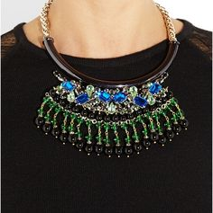 Brunette in a City - ETRO Crystal-embellished gold-plated necklace