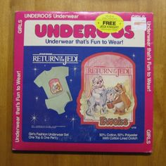 Why, yes!  Of course I had Ewok underoos!  Didn't you?