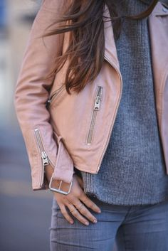 Blush Leather Jacket | Blank Itinerary