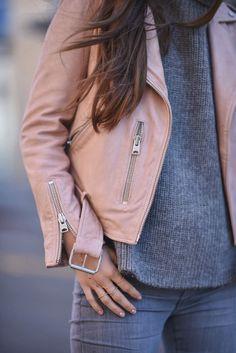 Blush Leather Jacket   Blank Itinerary