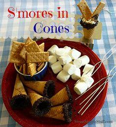 Smores in cones