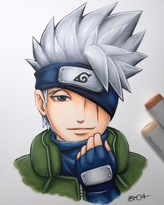 Throwback to one of my fave drawings this year. Sorry for all the Kakashi spam lately but I did this back in January! Wallpaper Naruto Shippuden, Naruto Shippuden Anime, Boruto, Anime Naruto, Manga Anime, Naruto Minato, Kakashi Sensei, Naruto Drawings Easy, Kakashi Drawing