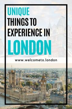 What unique things can you experience in London? Find out all about what attractions to see, what things to do and what secret places to explore when visiting London, UK. London Tours, London Travel, London Hotels, Travel Europe, London Icons, London Attractions, London Free, Destinations, Things To Do In London