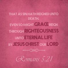 Romans 5:21 KJV