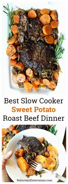 One of our last meals together before Abby left for college wasBest Slow Cooker Sweet Potato Roast Beef Dinner simmered in shallots fennel red wine. Slow Cooker Roast, Best Slow Cooker, Crock Pot Slow Cooker, Crock Pot Cooking, Slow Cooker Recipes, Crockpot Recipes, Crock Pots, Cooking Oil, Easy Family Dinners