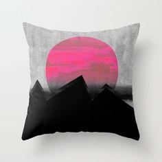 Pink Sun Throw Pillow by Georgiana Paraschiv | Society6