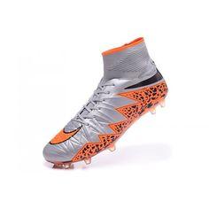 huge discount 639ff f3610 Nike Hypervenom Fotbollsskor - Billig Nike Hypervenom Phantom II FG Grå  Orange Fotbollsskor