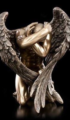 Characteristics Of Gothic Sculpture . Characteristics Of Gothic Sculpture . Male Angels, Angels And Demons, Engel Tattoo, Angel Artwork, Angel Tattoo Designs, Sculptures For Sale, Greek Art, Music Tattoos, Sculpting