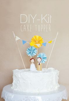 Bastelset für Cake Topper // diy-kit cake topper by catmade wedding via DaWanda.com