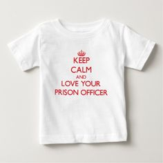 Keep Calm and Love your Prison Officer Infant T Shirt, Hoodie Sweatshirt
