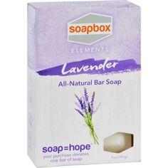 Soapbox Bar Soap - Elements - Relax - Lavender - 5 Oz