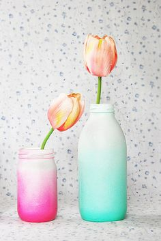 Ombre Glass Vases | 41 Amazing Free People-Inspired DIYs