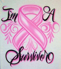 Airbrush T Shirt Breast Cancer Ribbon Cancer by BizzeeAirbrush Cancer Survivor Quotes, Breast Cancer Quotes, Breast Cancer Tattoos, Cancer Ribbon Tattoos, Breast Cancer Survivor, Breast Cancer Awareness, Cancer Ribbons, Cancer Awareness Tattoo, Cancer Survivor Tattoo