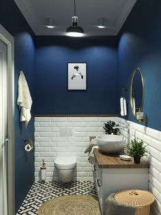 Small Bathroom Interior, Bathroom Design Luxury, Modern Bathroom Design, Toilet Room Decor, Small Toilet Room, Home Room Design, Home Interior Design, Toilet Design, Apartment Interior