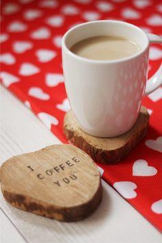 "Sous-tasses ""I coffee you"""