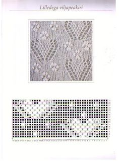 Hearts and flowers lace chart.