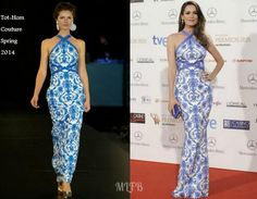 Mar Saura In Tot-Hom Couture - Iris Awards. Re-tweet and favorite it here: https://twitter.com/MyFashBlog/status/477637507480170497/photo/1