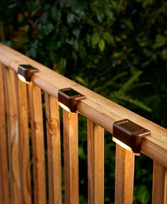 The Set of 3 Solar Deck Lights illuminates the exterior of your home for greater visibility and security. They're easy to install and charge during the day for automatic light at night. Outdoor Deck Lighting, Solar Deck Lights, Outdoor Decor, Pergola Lighting, Landscape Lighting, Exterior Solar Lights, Dock Lights, Outdoor Solar Lanterns, Rope Lighting