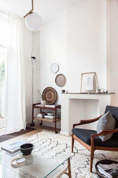 Serene living room of Holly Marder