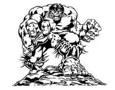 Vinilo adhesivo del superhéroe Hulk 05121