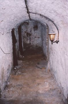 The Edinburgh vaults are located under the medieval part of the city.  Usually visited via a guided tour, there are plenty of ghost stories to listen to on one of these spooky journeys back in time! #EdinHour