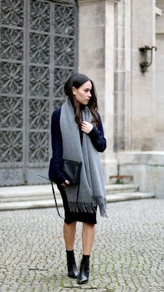 lbd-topped-with-oversized-scarf
