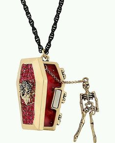 Coffin necklace with little skeleton!