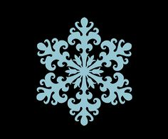 Floral Snowflake Icy Frozen Ice Flower Embroidery Machine Design 11 SIZES by OCDEmbroidery on Etsy