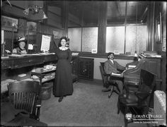 Furniture Store Office Dubuque, Iowa 1912