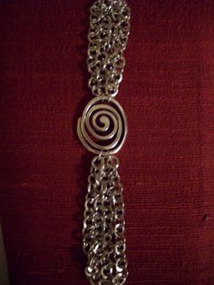 SALE Silver Looped Chain Band Bracelet with by DesignsbyPattiLynn, $30.00