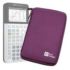 Coque de rangement violette rigide pour Texas Instruments TI-83 Premium, TI 82 Advanced et TI-NSPIRE CX calculatrices scientifiques –…
