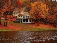 Lovely Lakehouse in the Fall...Donnine...