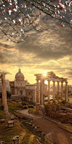 Famous Roman ruins, Rome, capital city of Italy Must see