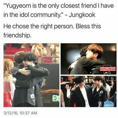 I'm truly thankful that he has someone to confide his struggles in along with his hyungs.