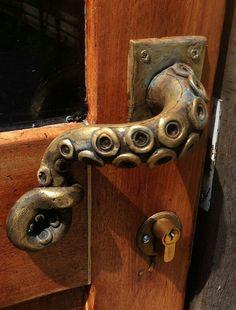 iron tentacle door handle petit cabinet de curiosites iron