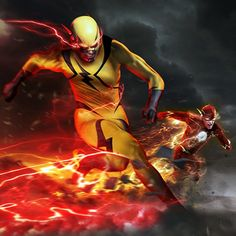 flash epic reverse 4k vs cw superhero dope hero dc comics funny mobile reverseflash artwork