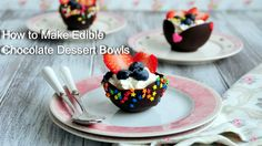 Try to make these fun Edible Chocolate Dessert Bowls this Valentine's Day!  I'm sure your sweetheart will love it.