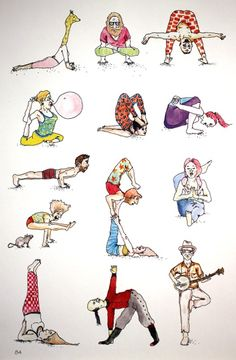 Yoga Dream / illustrations by Mike Gigliotti. from book by Kyle Miller #yoga #illustration