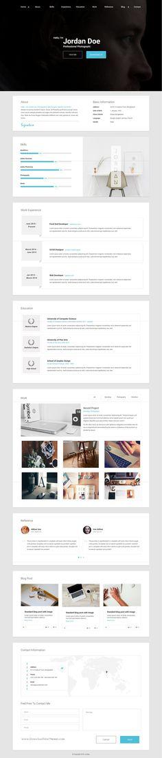 RStill - CV\/Resume - resume website template