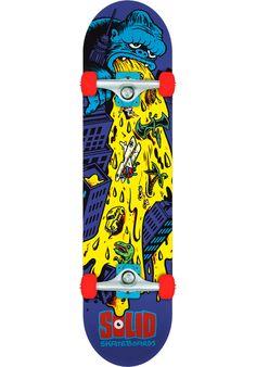 Solid Puke-King-Kong, Skateboard-Complete, multicolored Titus Titus Skateshop #SkateboardComplete #Skateboard #titus #titusskateshop
