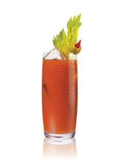 10 #Cocktails to Sip as You Watch #MadMen: Hot Bloody Mary (vodka, bloody mary mix, worcestershire sauce, hot sauce)