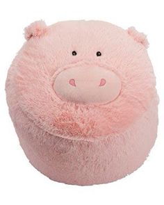Just Pretend Pig Stool Plush Bean Bag This Little Piggy, Little Pigs, Pig Pen, Piggly Wiggly, Mini Pigs, Cute Piggies, Just Pretend, Flying Pig, Everything Pink